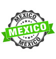 mexico round ribbon seal vector image vector image
