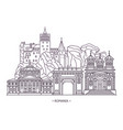 monuments or romania landmarks vector image vector image