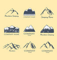 mountain silhouette nature outdoor rocky vector image vector image
