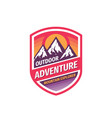 outdoor adventure - concept badge design mountain vector image vector image