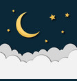 paper moonstars and clouds isolated vector image