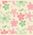 pastel colors geometric floral seamless pattern vector image vector image