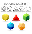 platonic 3d shapes vector image
