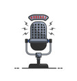 podcast microphone in flat style isolated on vector image vector image