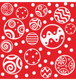 red seamless christmas balls vector image vector image