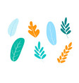 set of abstract plants vector image vector image