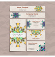 Set of design templates Business card with floral vector image