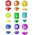 set of precious stones vector image
