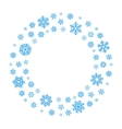 Snowflake Wreath vector image