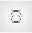 socket icon sign symbol vector image vector image