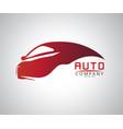 sports car logo company vector image