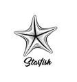 starfish black ink vector image vector image
