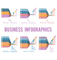 template infographics lines and strips vector image