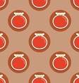 tomato pattern Seamless texture with ripe red vector image