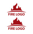 two fire logo design element vector image