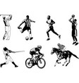 various sports sketch vector image