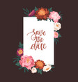 vertical card template decorated with blooming vector image vector image
