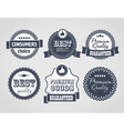 vintage labels discount labels vector image vector image