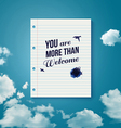 Welcome poster for your business partners vector image vector image