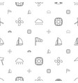 wind icons pattern seamless white background vector image vector image