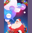 winter holidays card with santa claus in red vector image