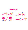 workout for women set of gym icons in flat style vector image vector image