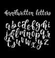 chalk hand drawn latin modern calligraphy brush vector image