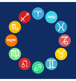 horoscope icons set vector image