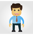 Business man cartoon vector image
