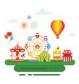 amusement park for kids vector image vector image