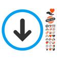 arrow down icon with love bonus vector image vector image