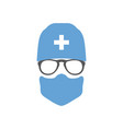 avatar doctor surgeon in hat and mask vector image vector image