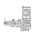 be safe while you lose weight with weight loss vector image vector image