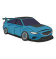 blue sport car luxury speed vehicle isolated on vector image vector image