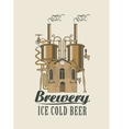 brewery with home with barrels on the roof vector image vector image