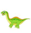 Cartoon happy dinosaur vector image