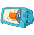 cartoon home kitchen microwave vector image vector image