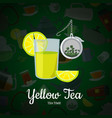 cartoon tea kettles and cups vector image vector image
