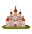 castle icon cartoon style vector image vector image