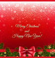christmas red banner- vector image vector image