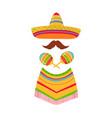 cinco de mayo 5th may mexican sombrero vector image