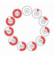 circle progress bar vector image vector image