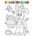 coloring book easter rabbit theme 7 vector image vector image