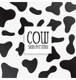 cow skin texture black and white print marks vector image vector image