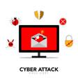 cyber attack concept graphic design vector image
