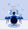 e-learning online education design concept vector image vector image