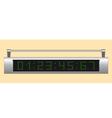 Electronic scoreboard vector image