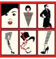 Fashion woman shoe and legs in style pop art vector image vector image