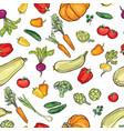 food ingredient seamless watercolor pattern vector image