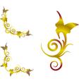 gold floral corner vector image vector image